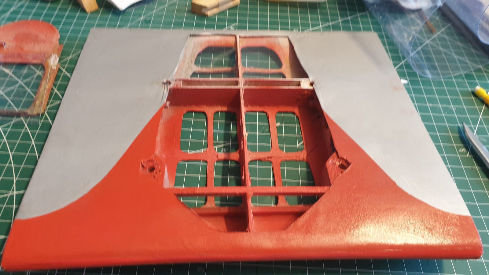 Details on my 1/6.6 Potez 58; door covering and glazing