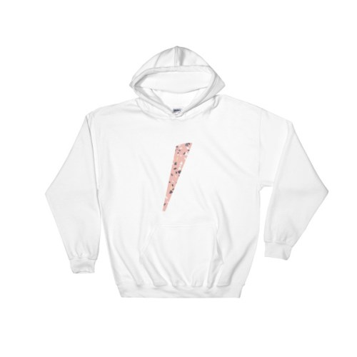 Sweat blanc logo eole paris Collection Terrazzo pink quartz