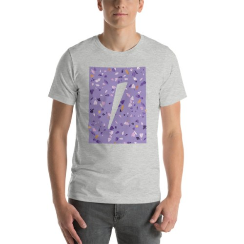 Tshirt Gris logo eole paris Collection Terrazzo ultra violet
