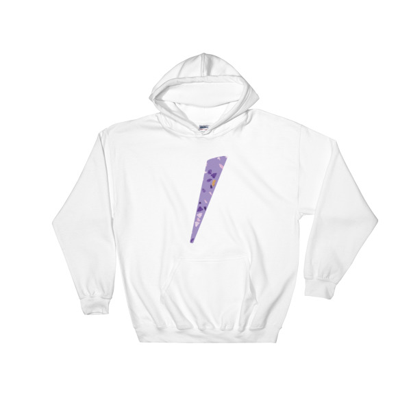 Sweat blanc logo eole paris Collection Terrazzo ultra violet