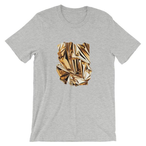 T-shirt | Métal Froissé Or |Foil