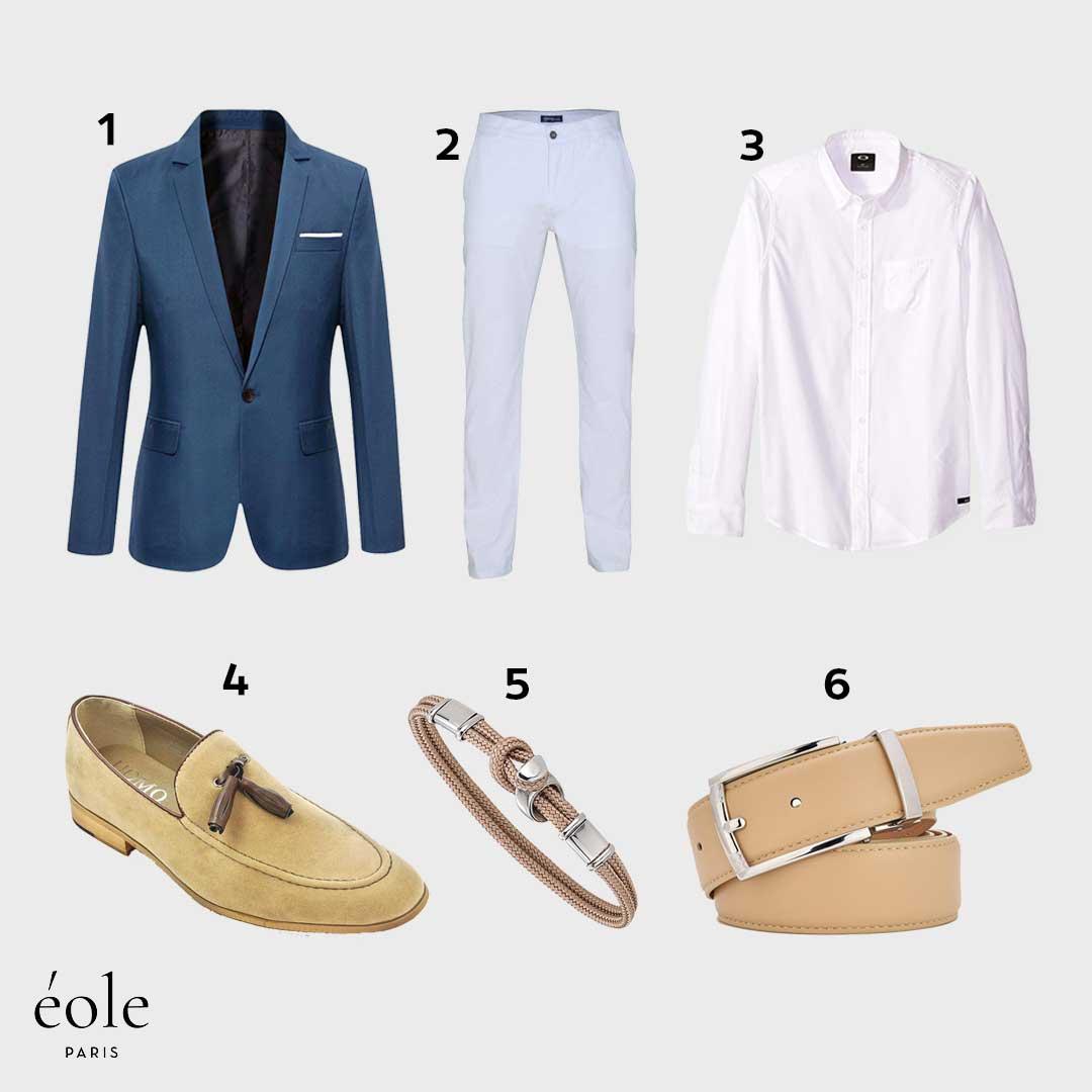 Look Casual Chic | Mi-Saison | Veste Casual Elegante, Chemise Manche Longue, Chino Classique…
