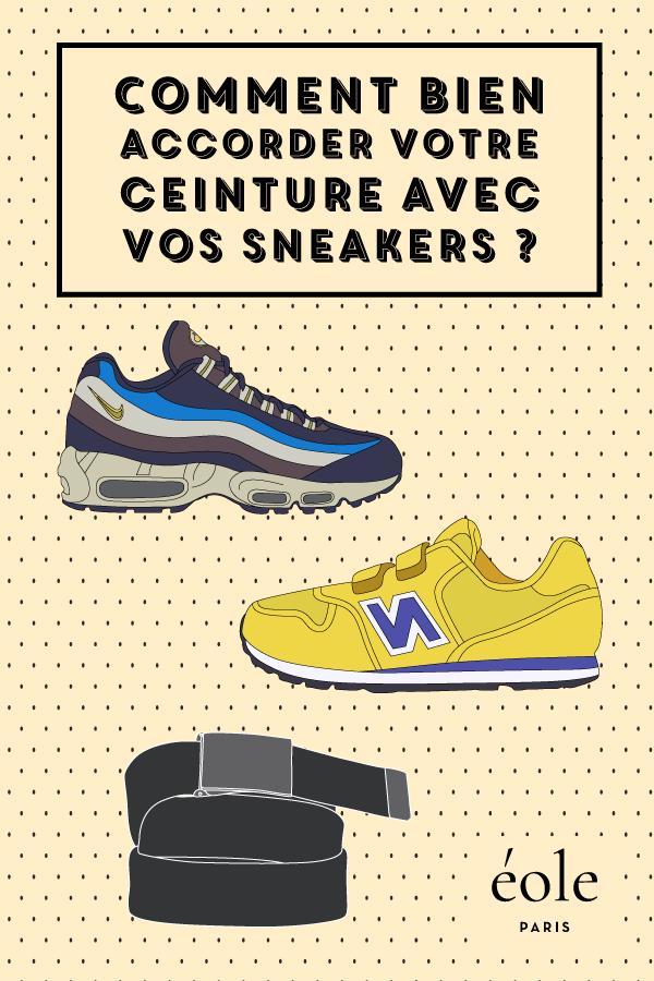 Comment bien accorder vos sneakers avec votre ceinture ? EOLE PARIS