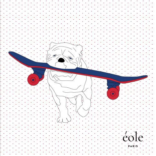 Dog Skate White
