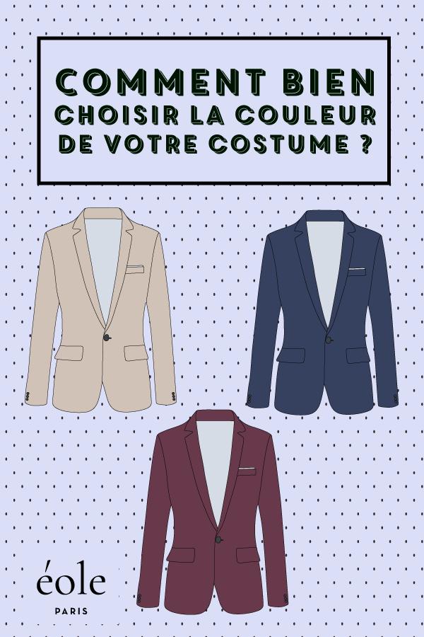 Comment bien choisir la couleur de votre costume ? EOLE PARIS P