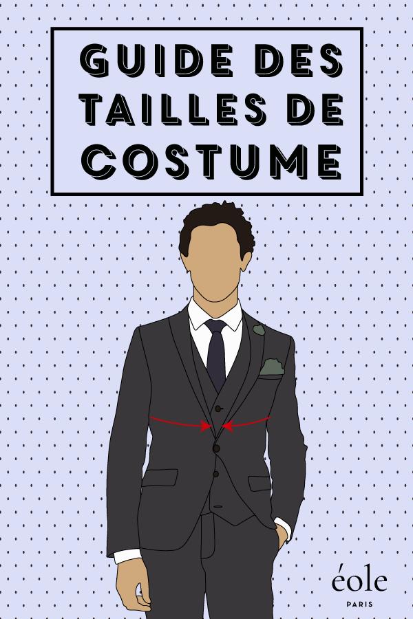 Guide des tailles de costume - EOLE PARIS P