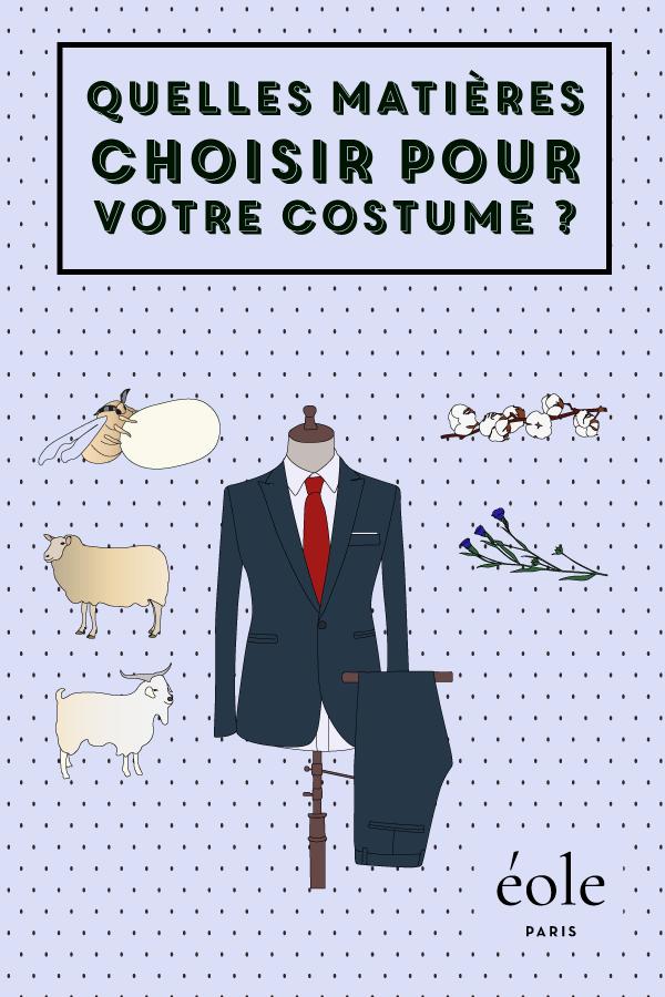 Quelles matieres choisir pour vos costumes ? EOLE PARIS P