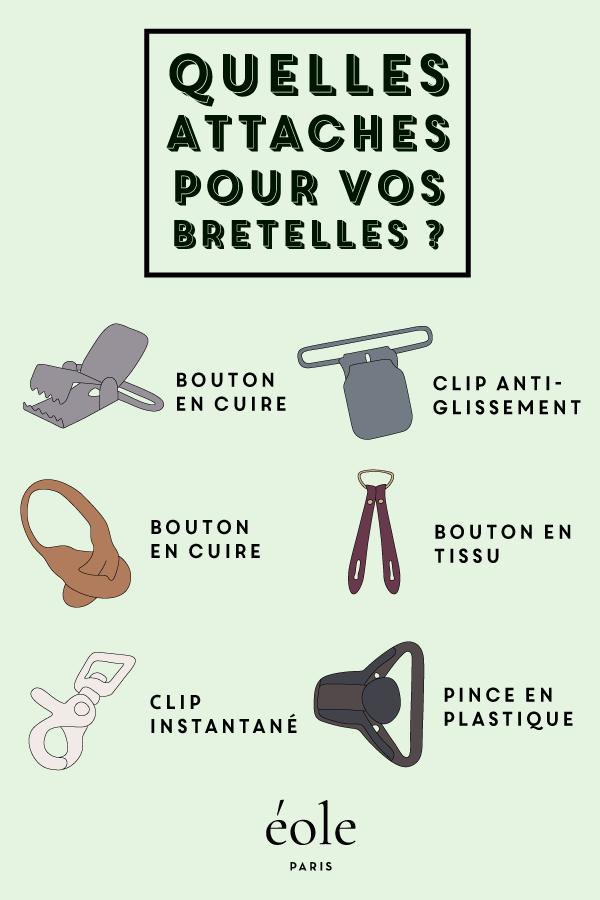 Quelles attaches pour vos bretelles ? EOLE PARIS