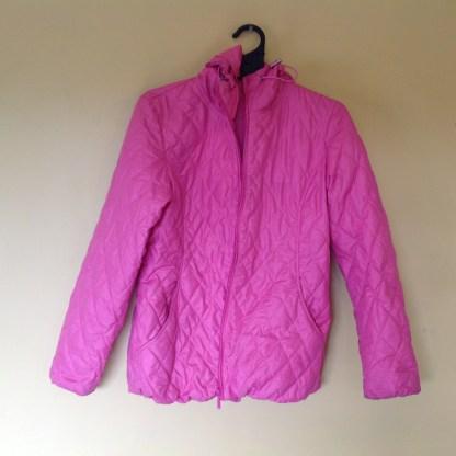 Secondhand UNI QLO girls rain jacket size S