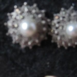 vintage sterling silver halo earrings 1970