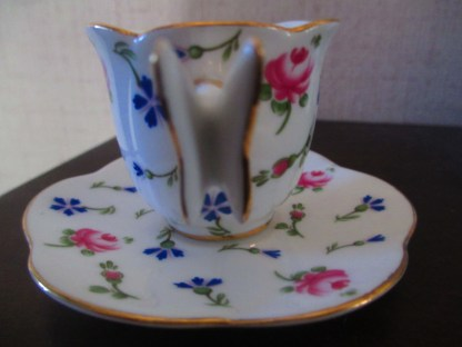 Regal Porcelain Miniature Butterfly Cup And Saucer