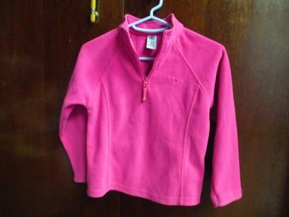 girls JK pink fleece top size 6