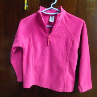 girls JK pink fleece top size 6