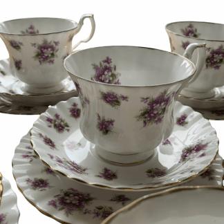 Royal Albert Sweet Violet Tea Set