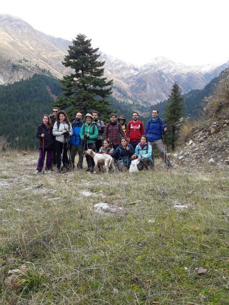 Η ομάδα του ΕΟΣ στο μονοπάτι προς Μελισσουργούς