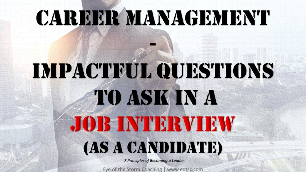 Career Management - Job Interview Questions