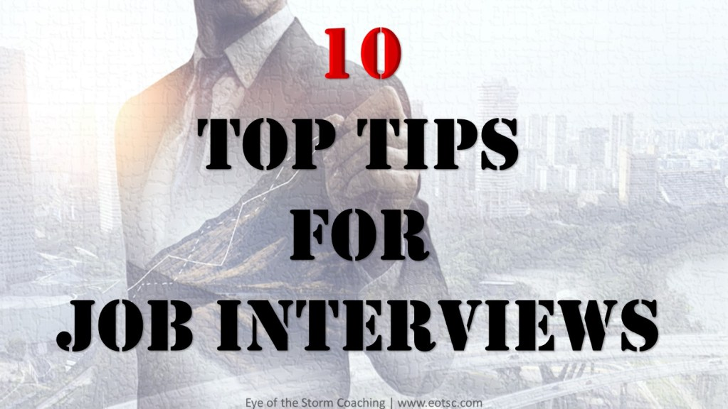 10 top tips for job interviews