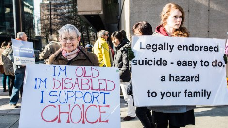 Pro-assisted suicide supporters