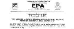 Audiencia Púbica para Rendición de Cuentas
