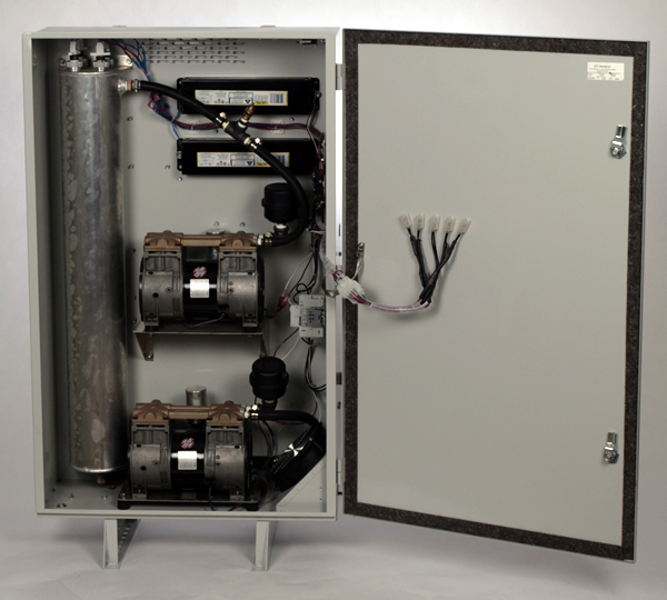 Ozone Aeration Cabinet Interior