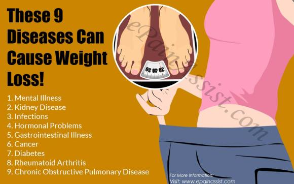 These 9 Diseases Can Cause Weight Loss!