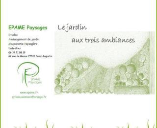 Epame paysages - conception dessin jardin trois ambiances