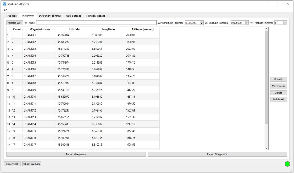 Préparez facilement vos vols de distance en parapente et utilisez Varduino Manager pour configurer ela navigation sur votre variomètre