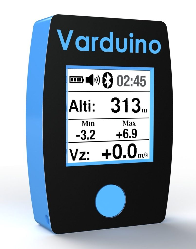 Varduino QT is an ultralight variometer for paragliding with an unprecedented display visibility thanks to the e-paper technology