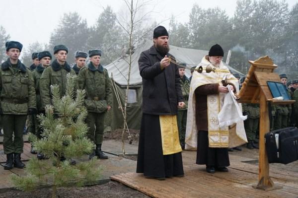 Солдаты и офицеры 11-ой механизированной бригады г ...