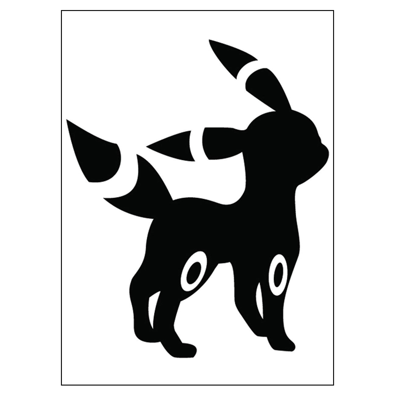 2x Negro Vinilo Calcomania Adhesivo Pokemon Ir Eevee