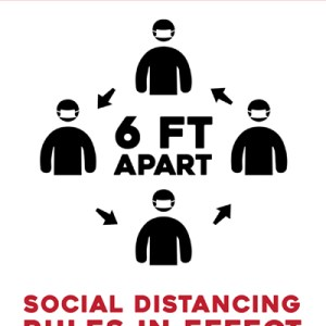 Social Distancing Wall Decal