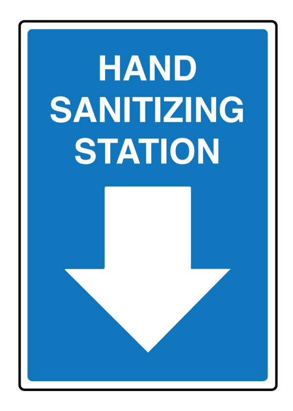 Hand Sanitizer Station Signage