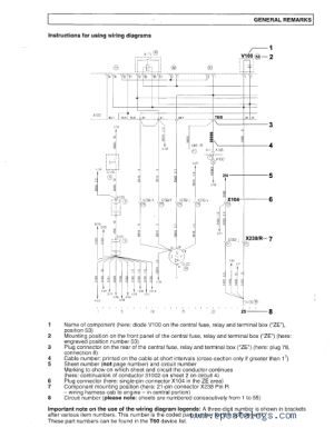 MAN Electrical System (TGA) Wiring Diagrams Manual PDF