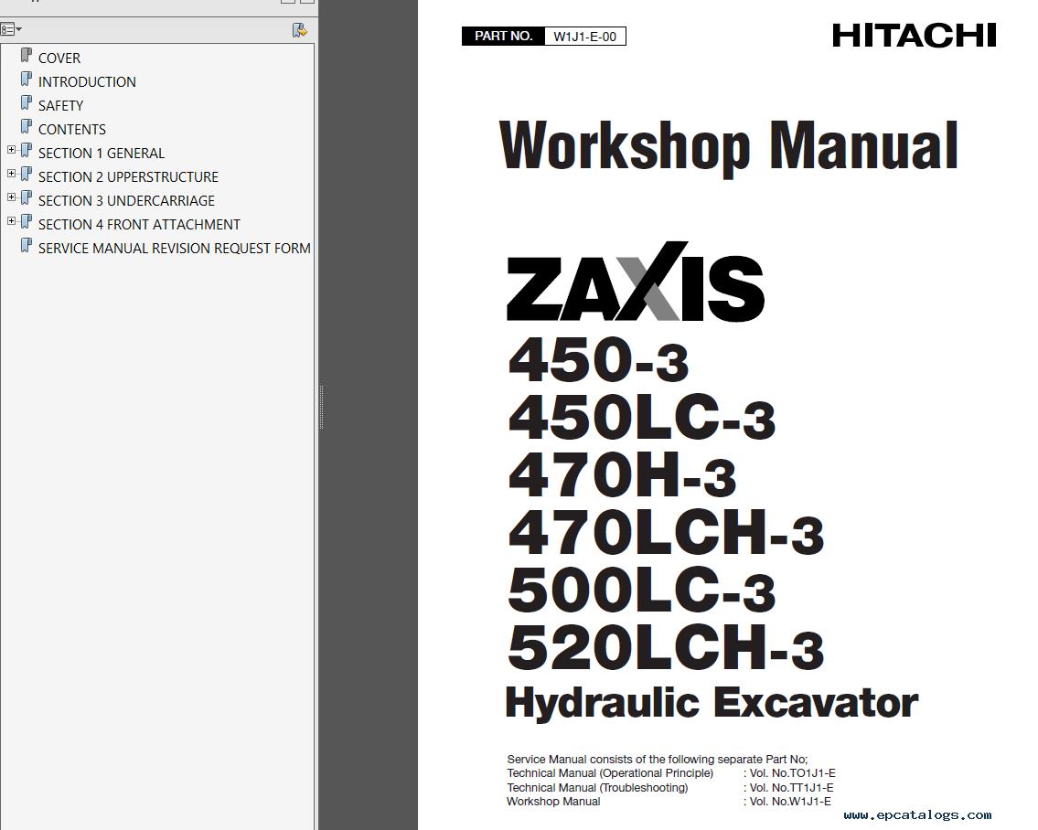 Hitachi Zx 450 Lc 3 470 Lc H 3 500lc 3 520lch 3