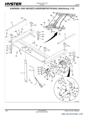 Hyster Challenger (F007) H8001200XM Forklift PDF Manual