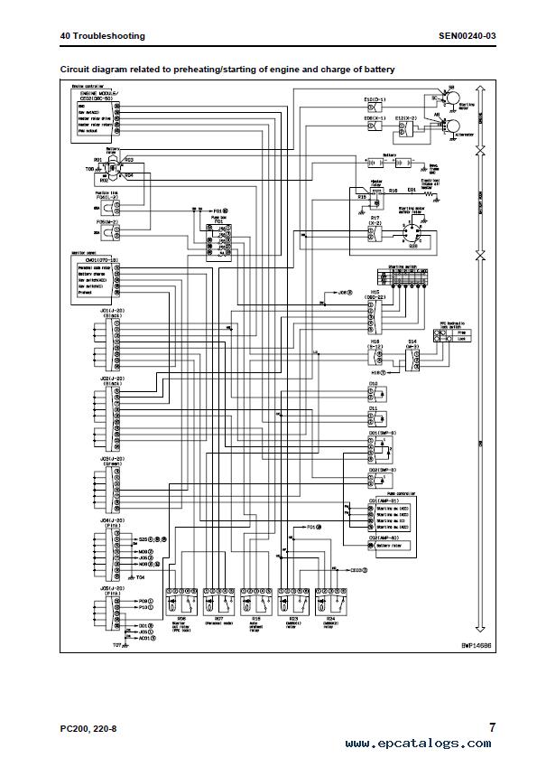 Komatsu Excavator Galeo Pc200 Lc 8 Pc220 Lc 8 Shop Manual