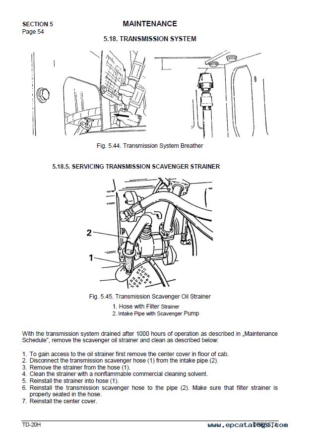 Komatsu Td 20h M11 Series Engine Operators Manual