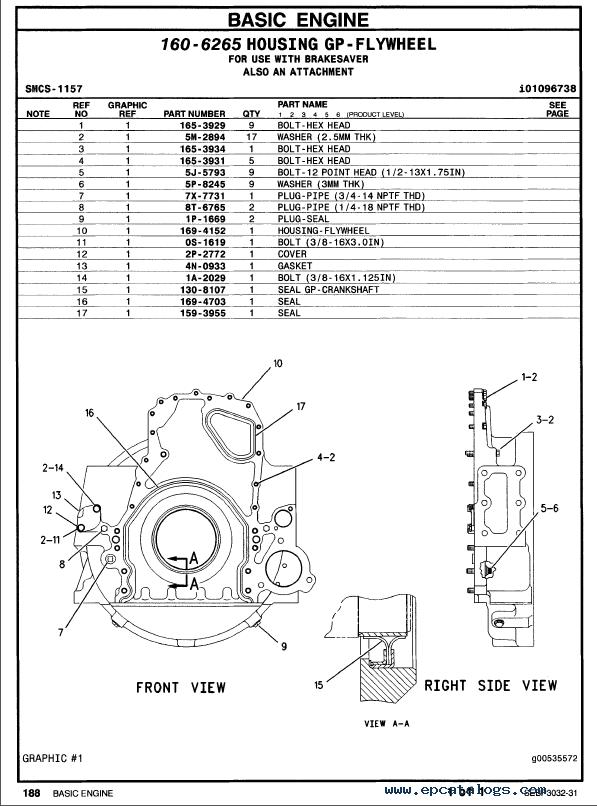 Caterpillar C 15 Truck Engine Parts Manual