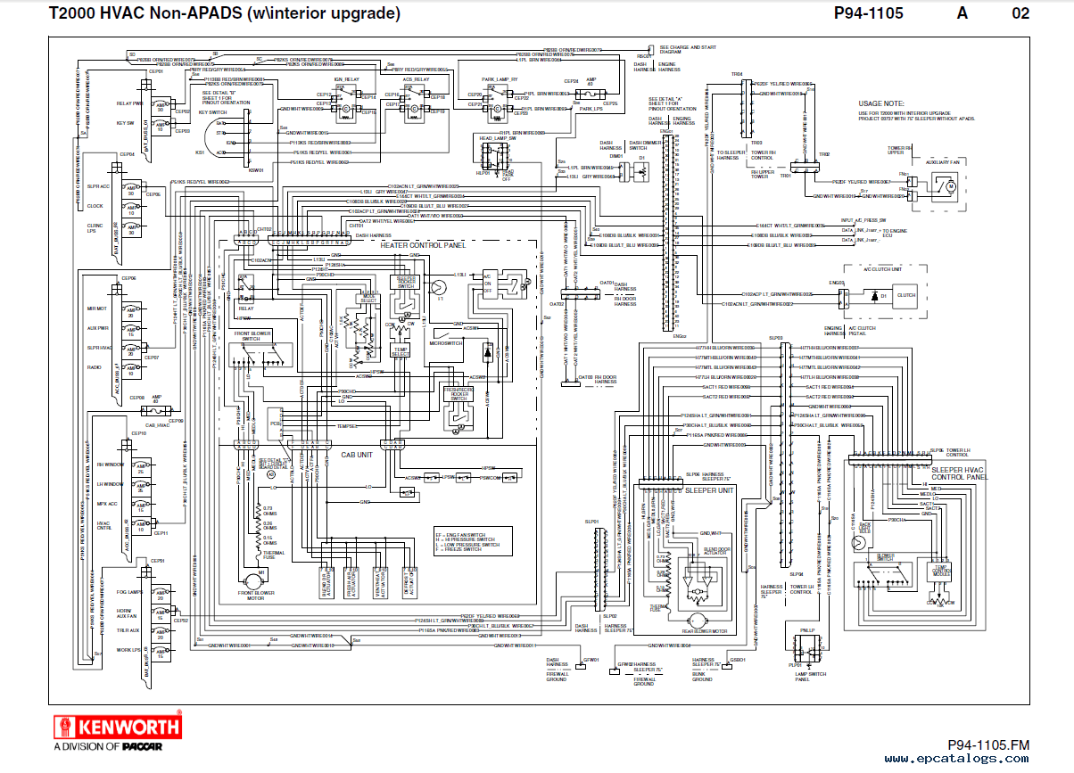 Kenworth T600 Wiring Diagrams