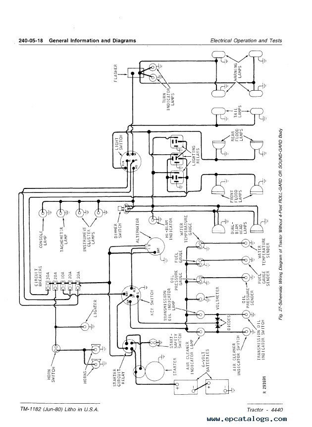 john deere 2640 alternator wiring john image john deere 4440 wiring diagram wiring diagram on john deere 2640 alternator wiring
