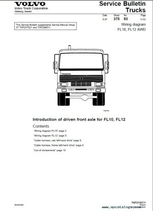 Volvo Trucks FL7, FL10, FL12 Wiring Diagram Manual PDF