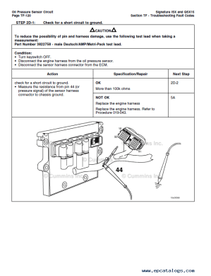 Cummins ECS Signature ISX QSX15 Engines PDF Manuals