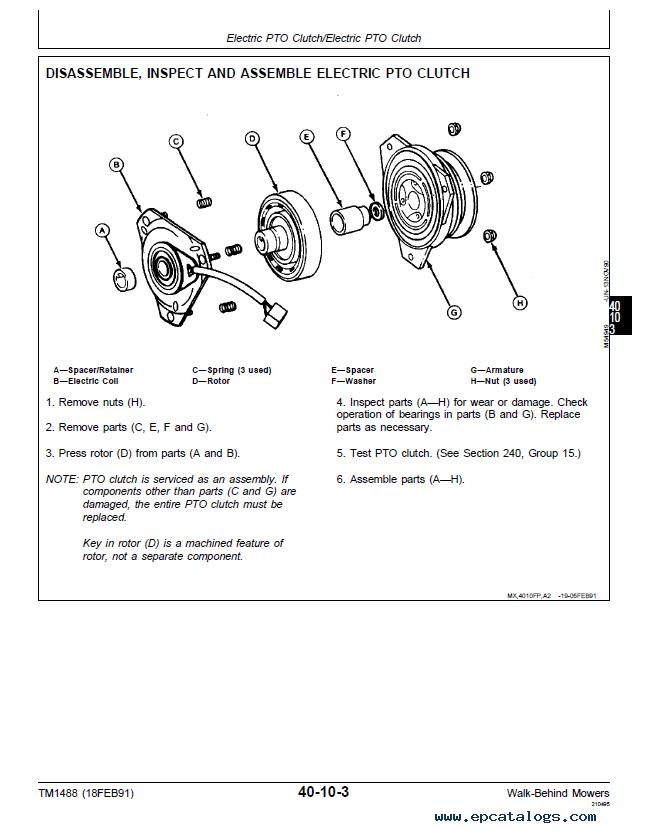 Diagram Deere Mower John Wiring