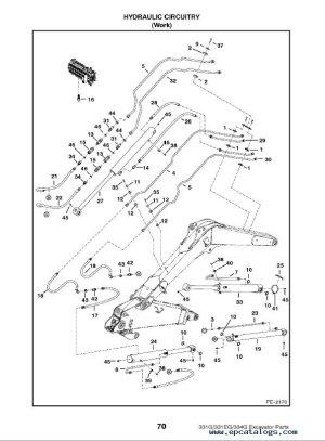 Bobcat 331 & 331E & 334 GSeries Excavator Parts Manual