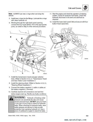 JLG SkyTrak Telehandlers 8042,10042,10054 ANSI Repair Manual