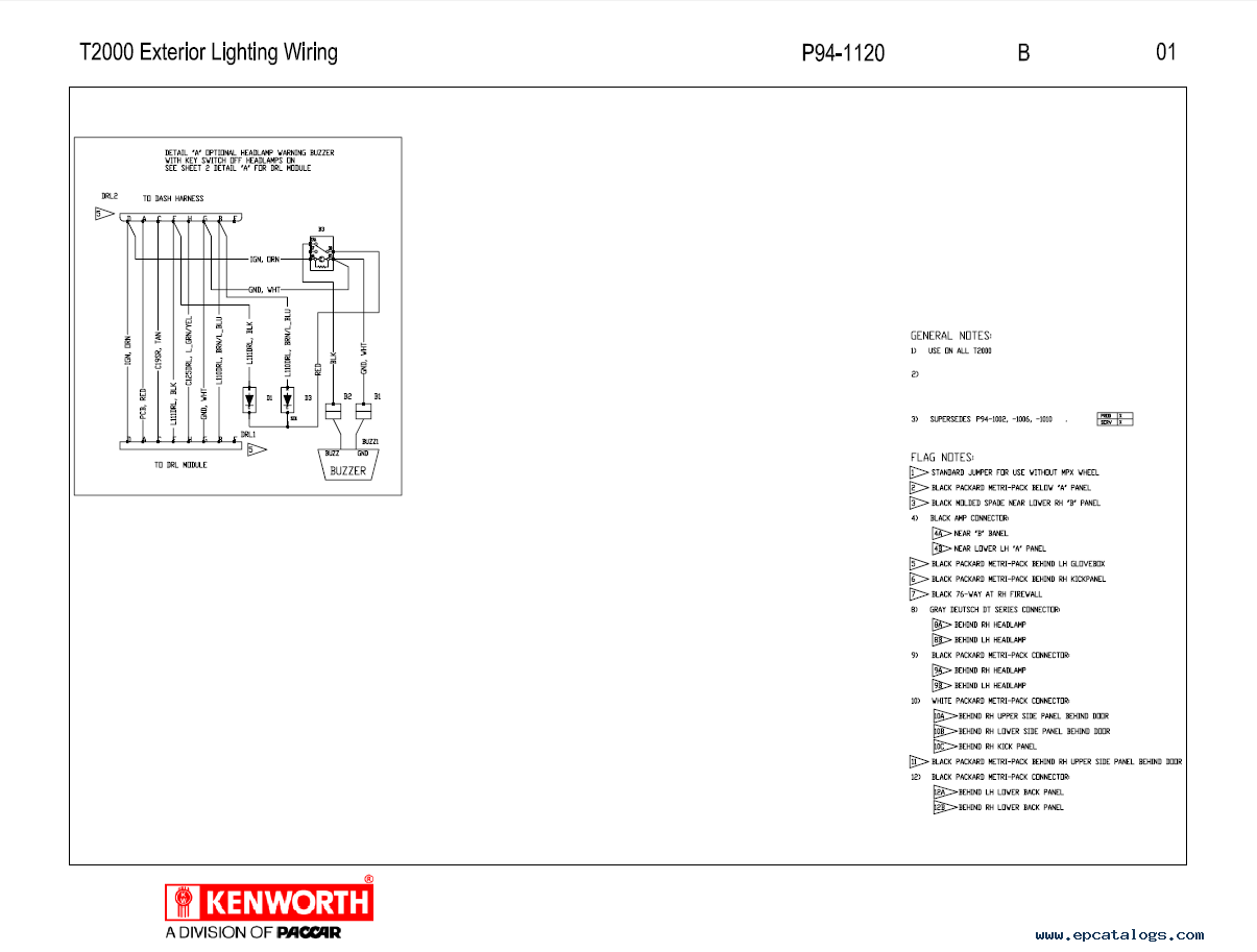 1993 Kenworth T600 Cab Wiring Diagram | Wiring Library