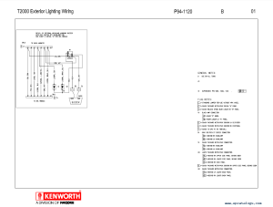 Kenworth T2000 Electrical Wiring Diagram Manual PDF
