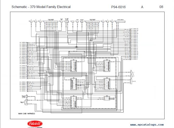 peterbilt truck 379 model family electrical schematic manual pdf