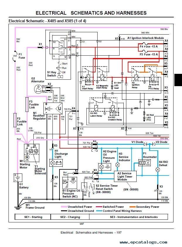 John Deere X465 X475 X485 X575 X585 Tm