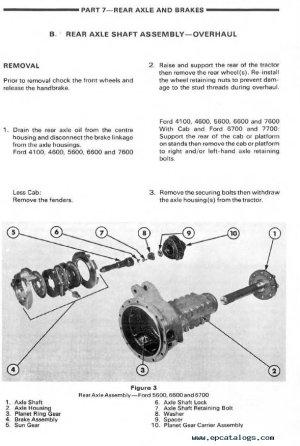 New Holland Ford 5610 Tractor Repair Manual PDF